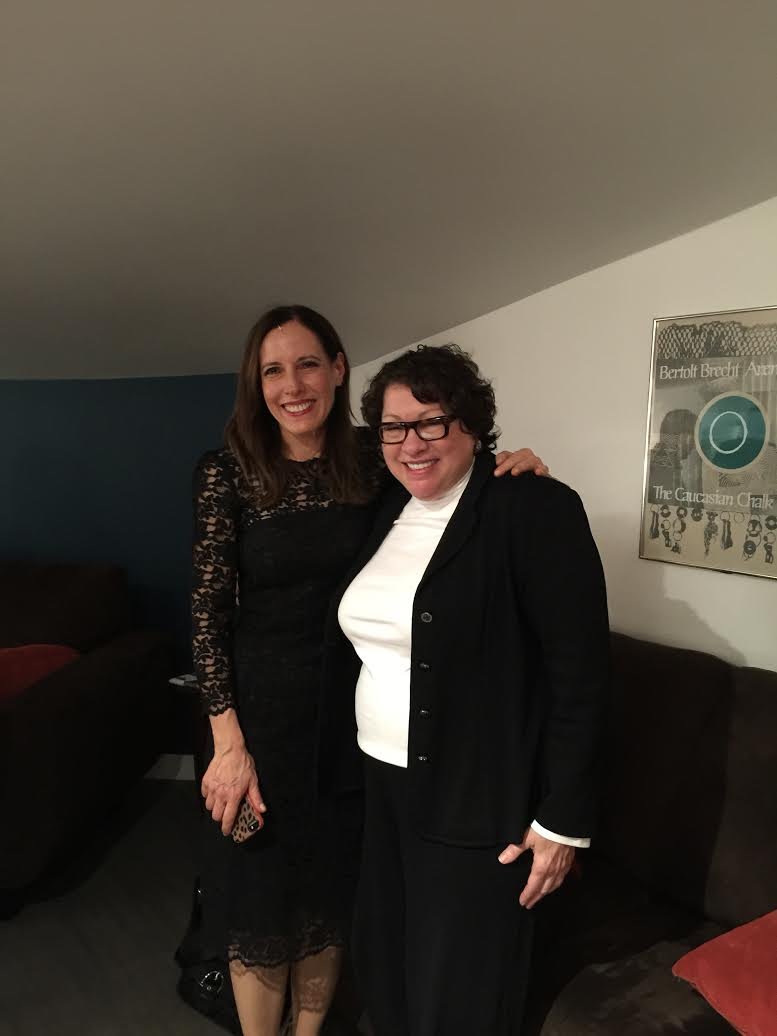 Marian Licha with Sonia Sotomayor, Associate Justice of the Supreme Court of the United States