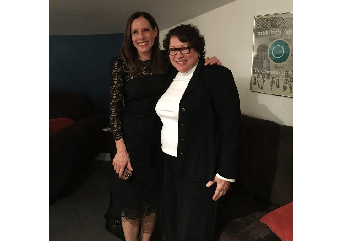 Marian Licha with Justice Sonia Sotomayor